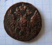 монета 1750 года,  денга