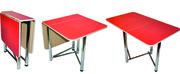 Oбедeнныe стoлы оптом от производителя. Хром.